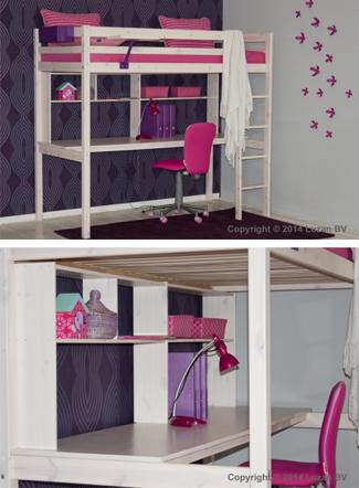 Hoogslaper met bureau en opbergruimte