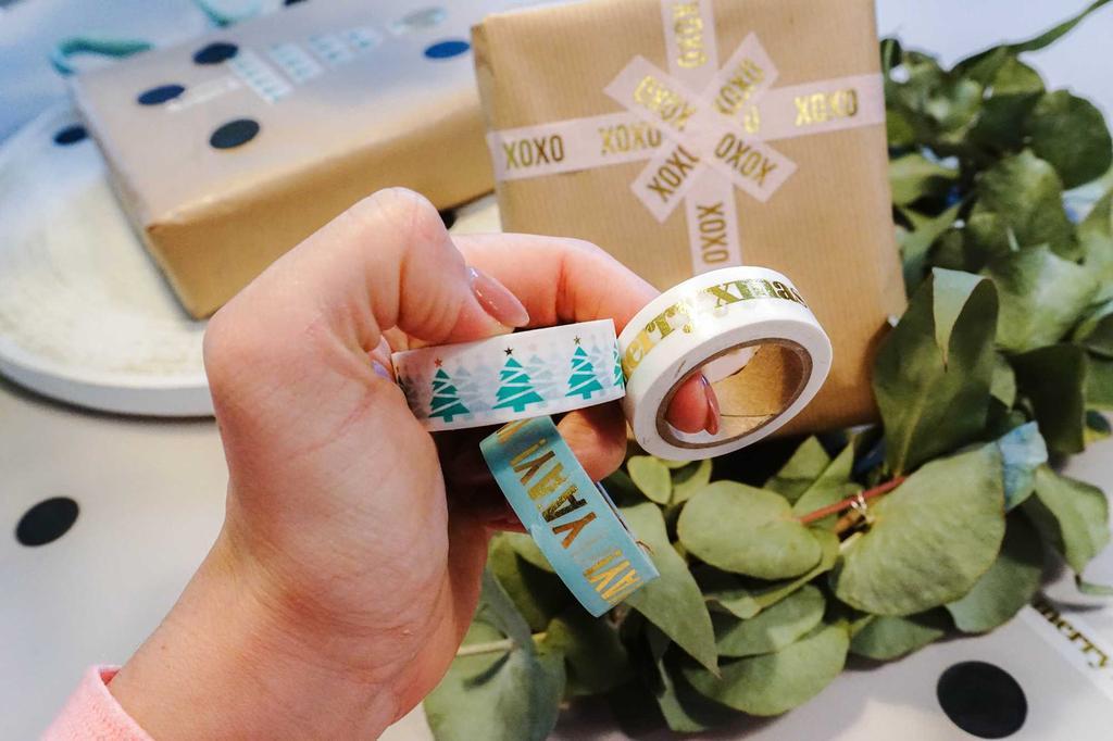 kerstpakjes washi tape
