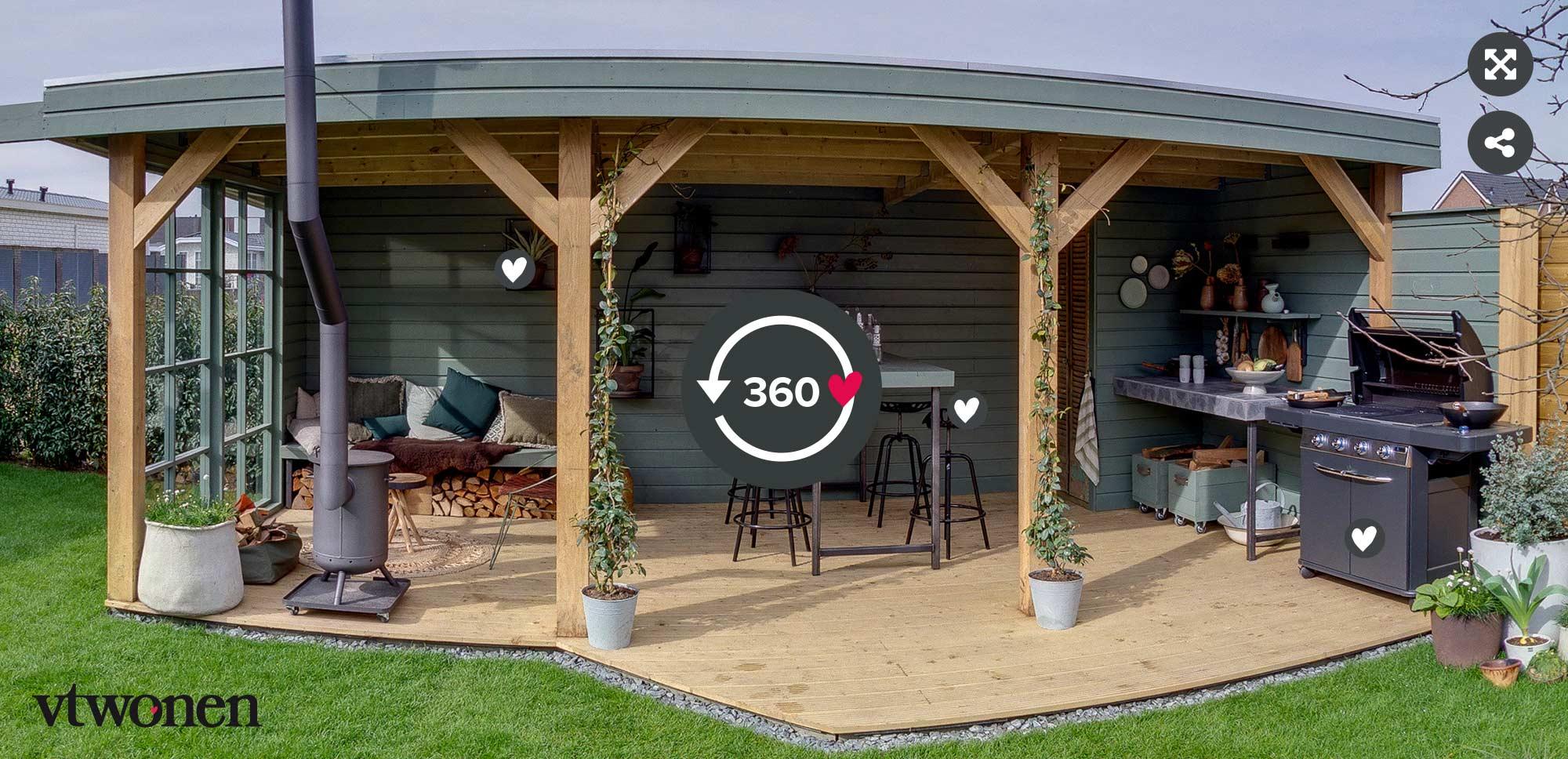 360 tour van de vtwonen tuin make-over in Apeldoorn