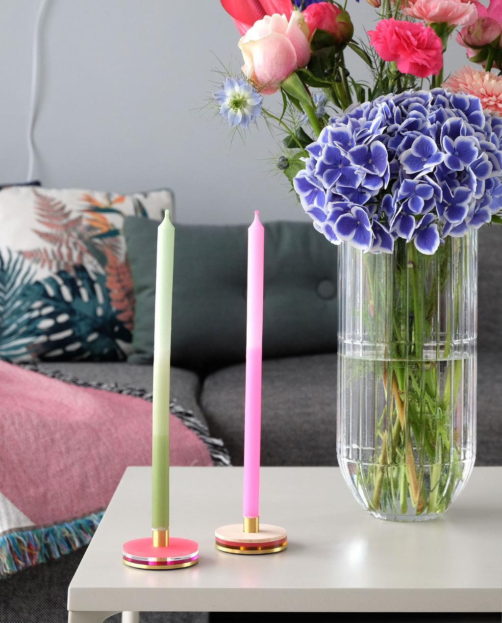 vtwonen blog PRCHTG | nieuwe aanwinsten design gekleurde kaarsen felgroen en felroze