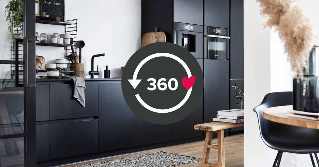 Bekijk deze stoere zwarte keuken in 360 graden