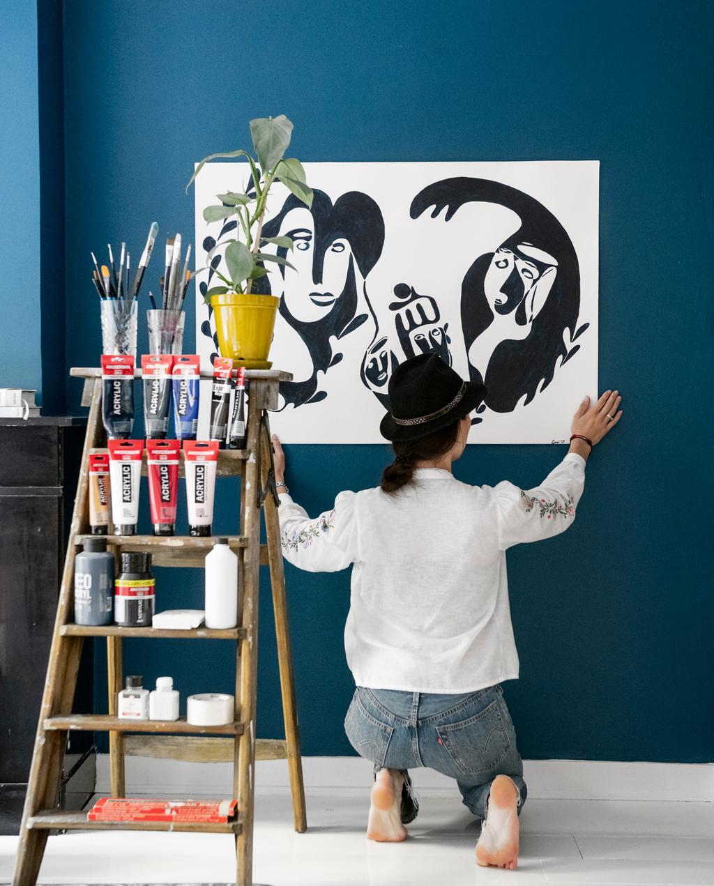 vtwonen 1-2020 | Binnenkijken in een benedenwoning in Amsterdam atelier