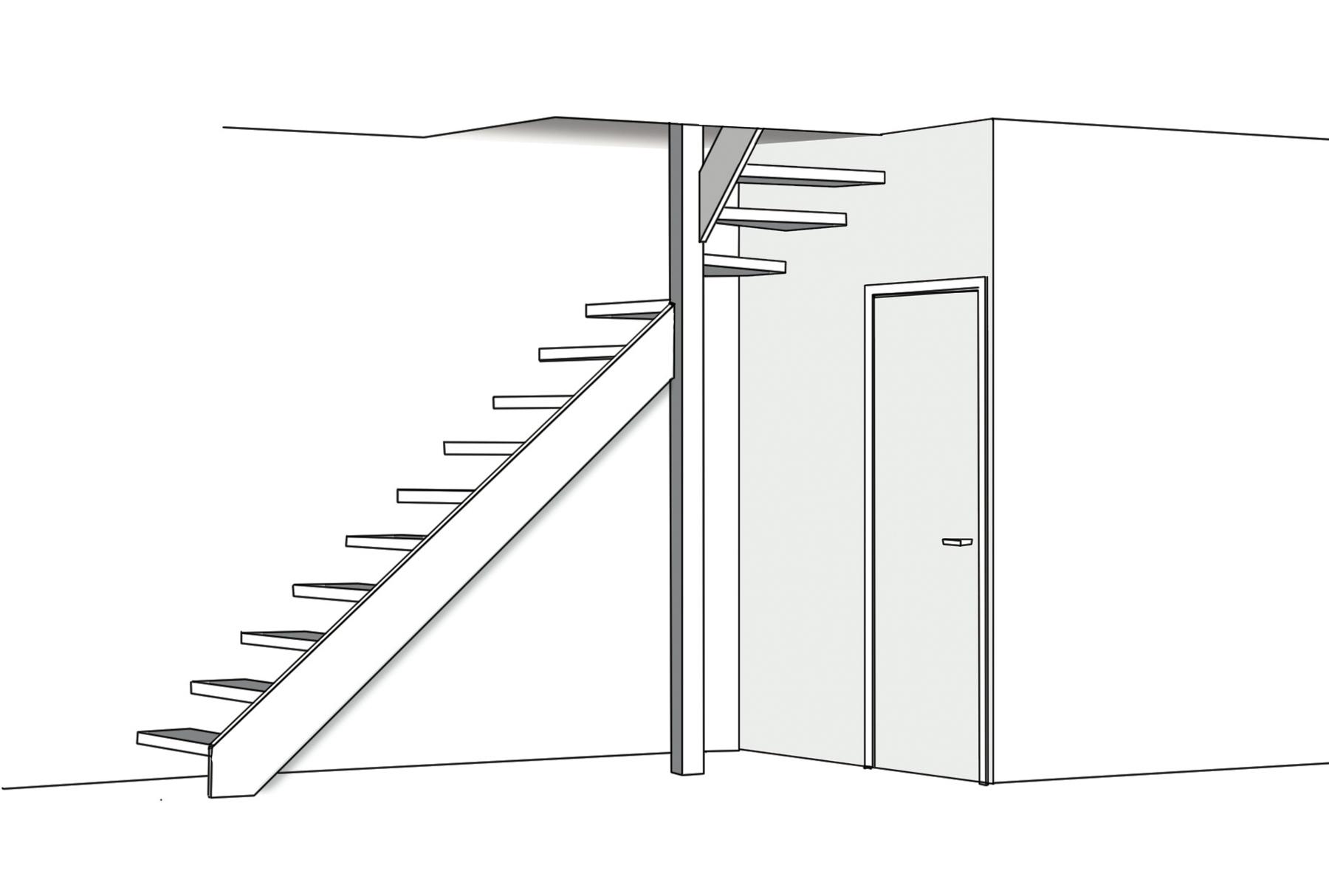 croquis espace vide escalier