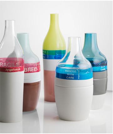 vaas van glas en keramiek