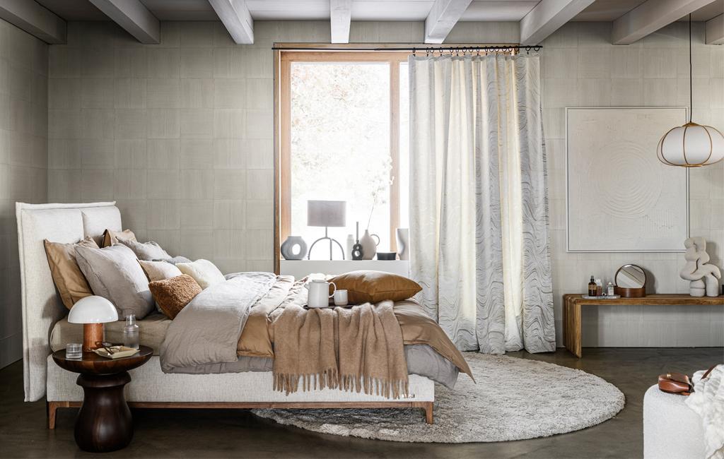 Slaapkamer in aarde tinten | Vormen en texturen | vtwonen 13-2020