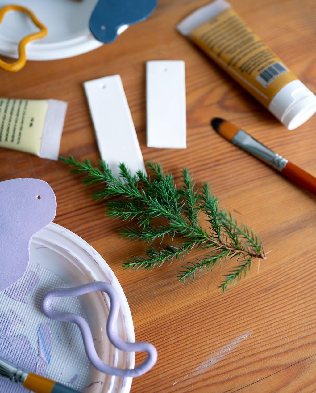 vtwonen | Blog My Attic DIY hanger kerst kleuren verven