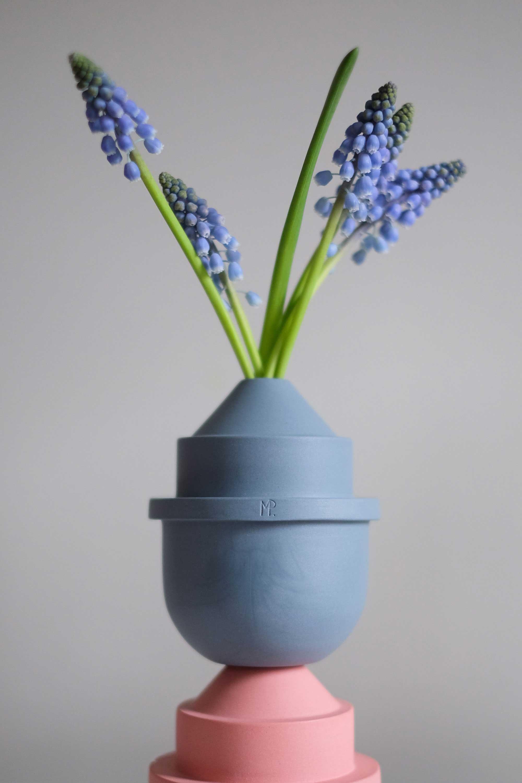 Blauwe vaas met blauwe druif van Mickey Philips