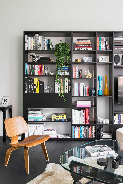 woonkamer boekenkast