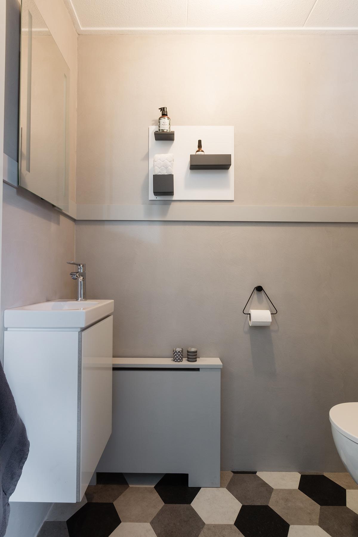 Make over kleinste kamertje wastafel