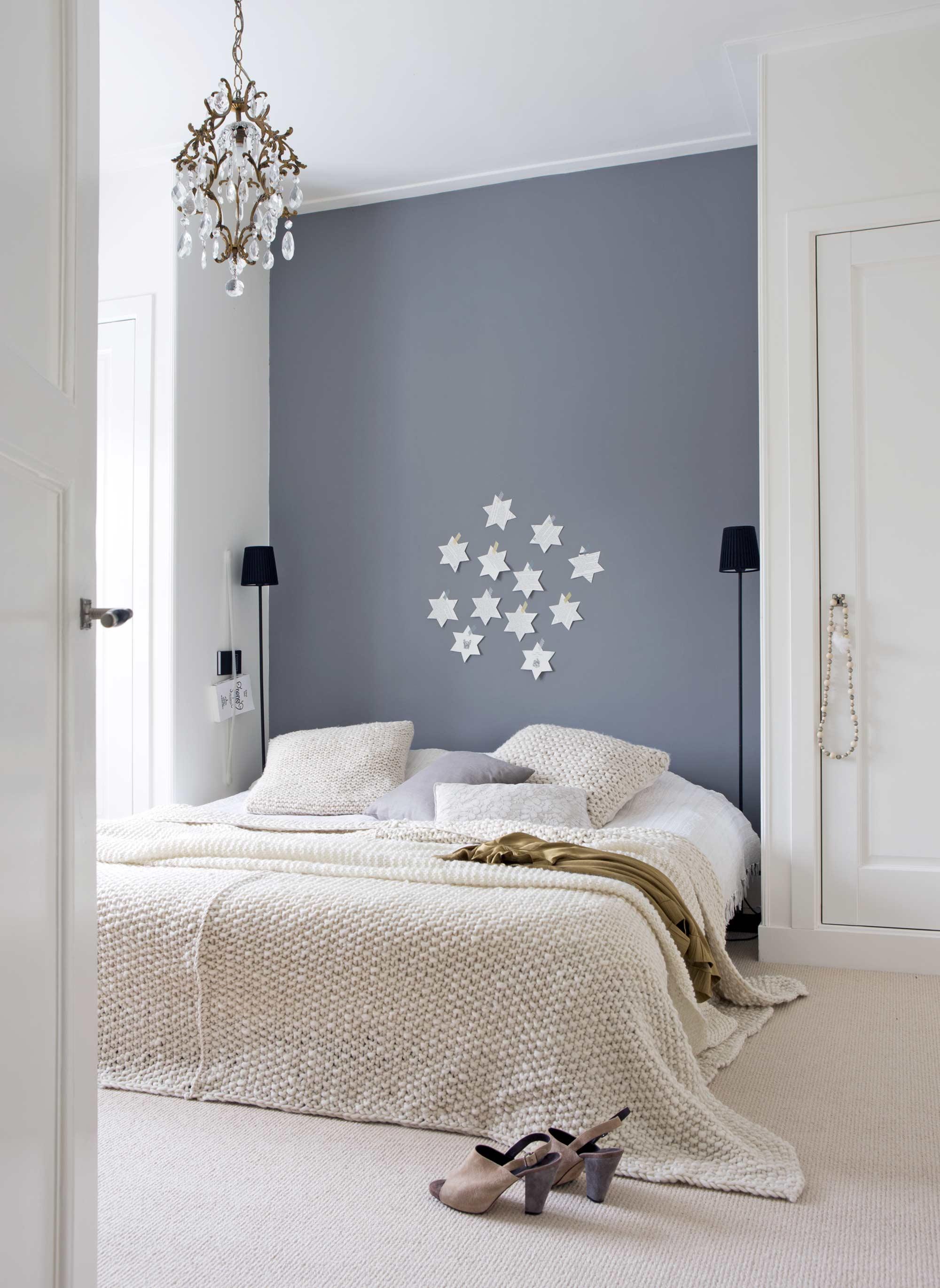 chambre romantique gris blanc