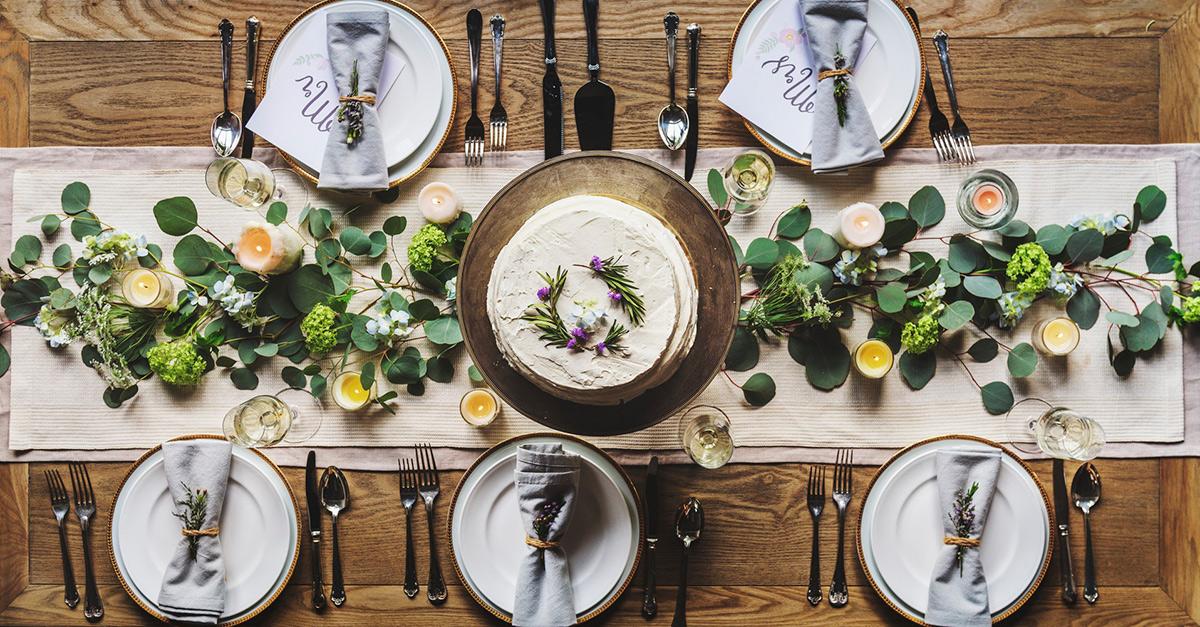 Gedekte feesttafel styling