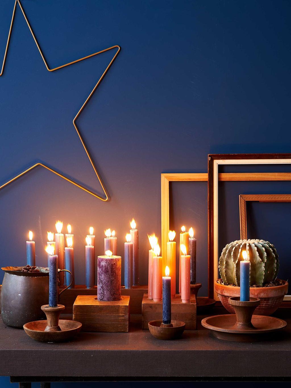 vtwonen collectie voor de feestdagen - Houten kandelaren - vtwonen