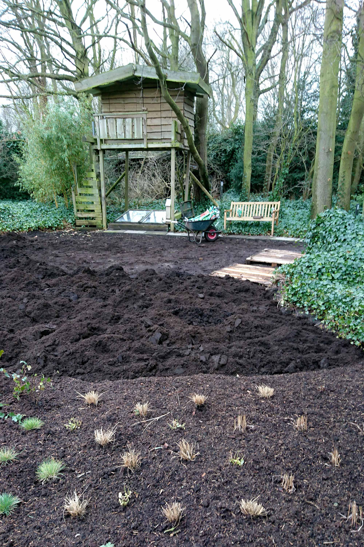 tuin moestuin boomhut