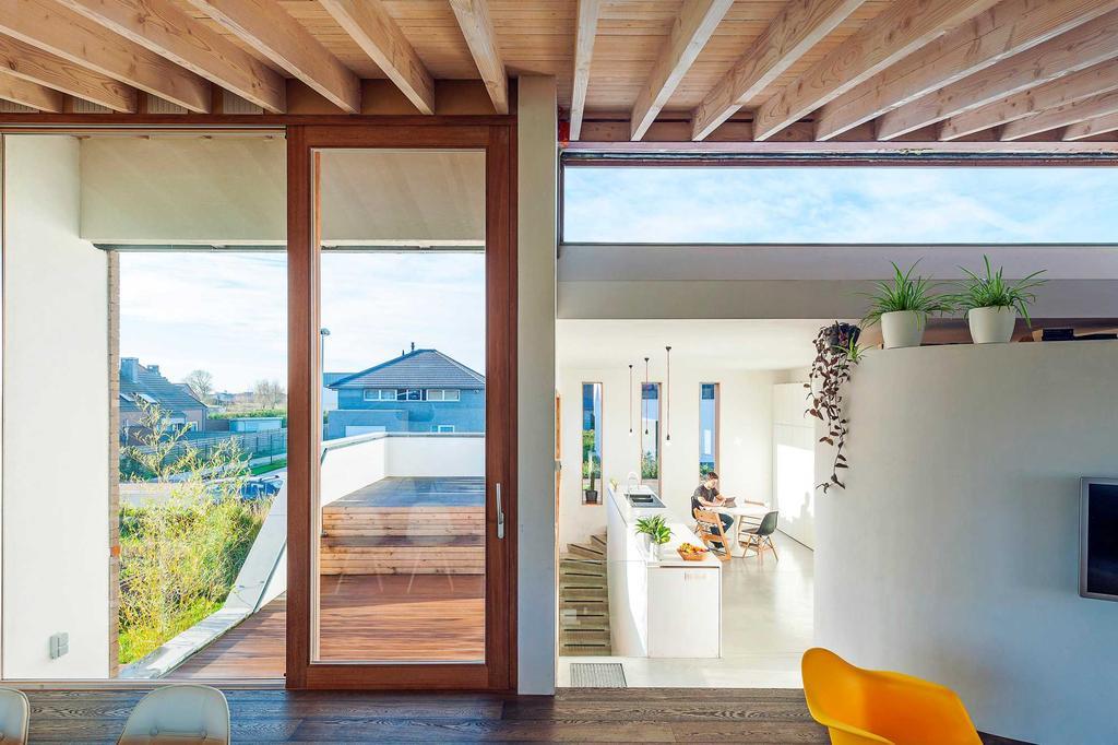 licht raam hout deur