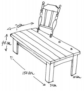 zelfmaak stoelenbankje