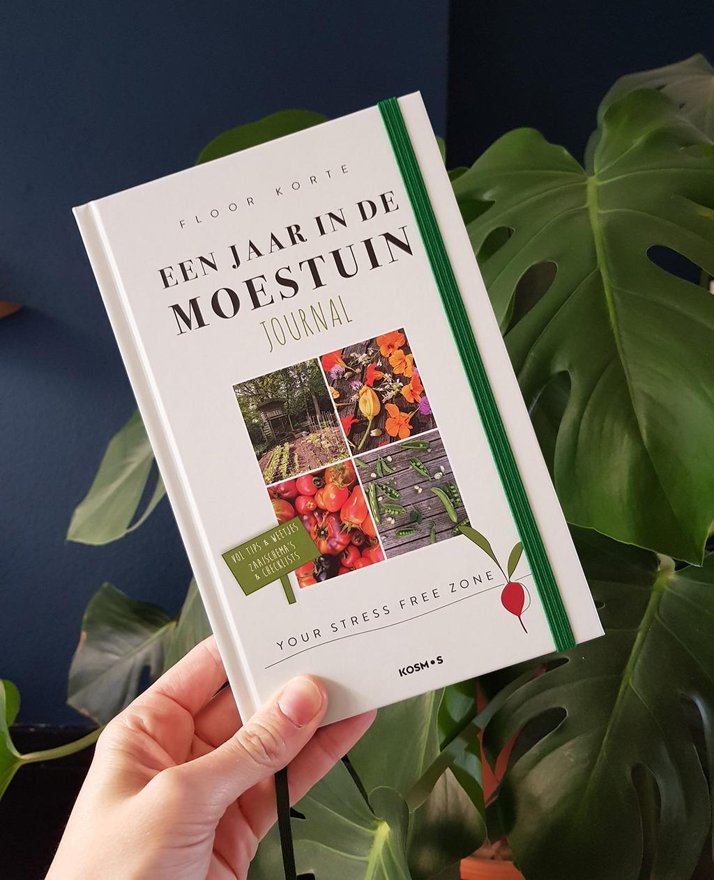 Journal 'Een jaar in de moestuin' het tweede boek van Floor Korte.