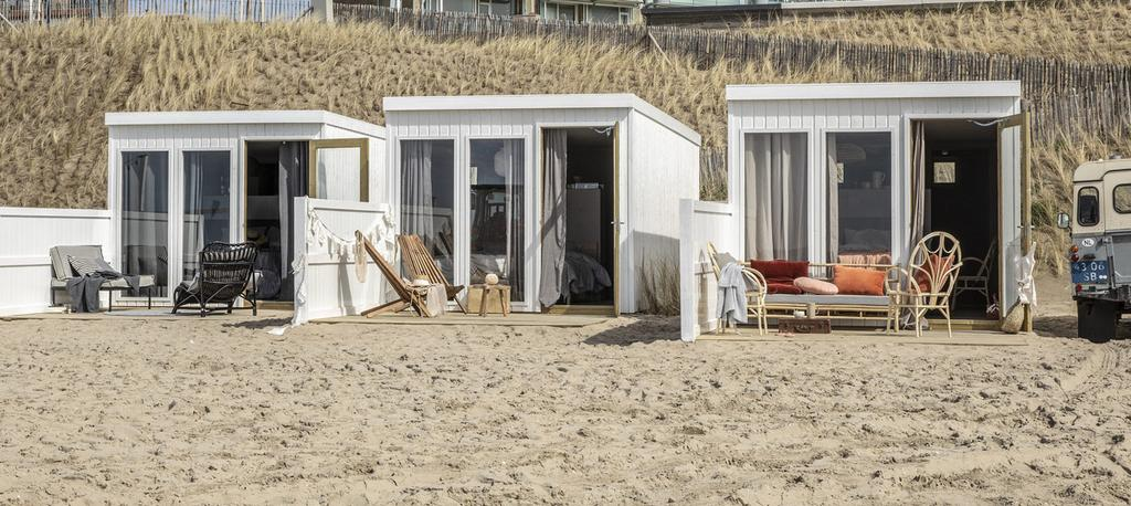 vtwonen strandkamers Zandvoort exterieur