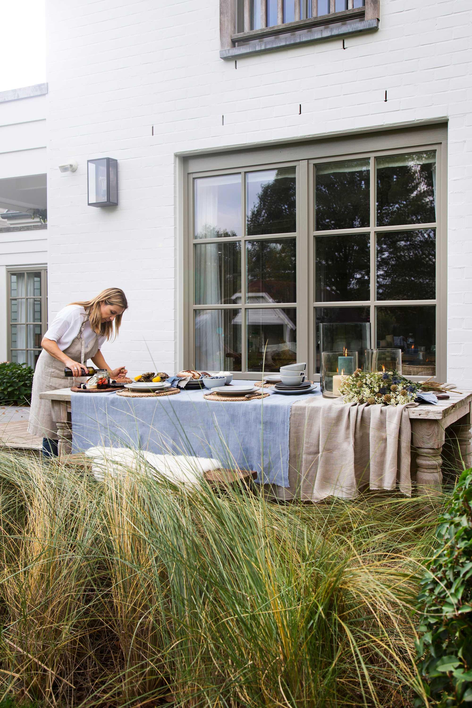 wonen landelijke stijl by j-line gedekte tafel marie masureel