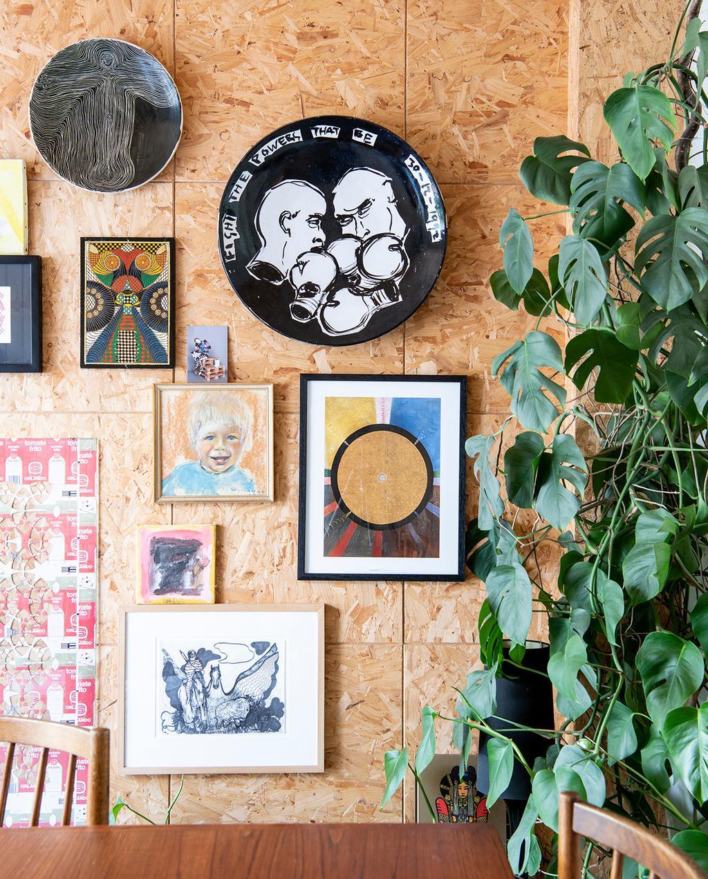vtwonen 2020 DIY special 02 | art wall bij de eethoek