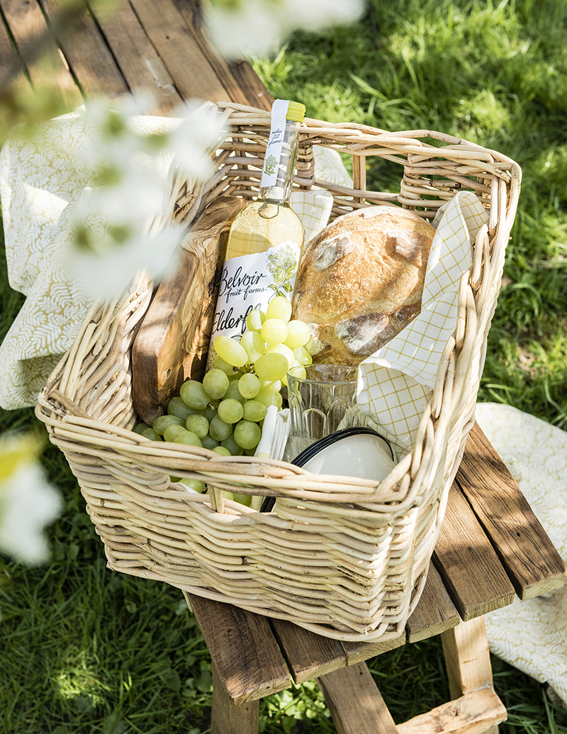 bloesem picknickmand