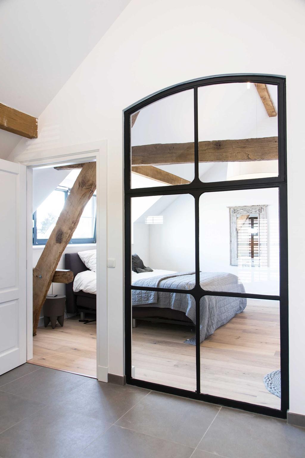 glas deur slaapkamer