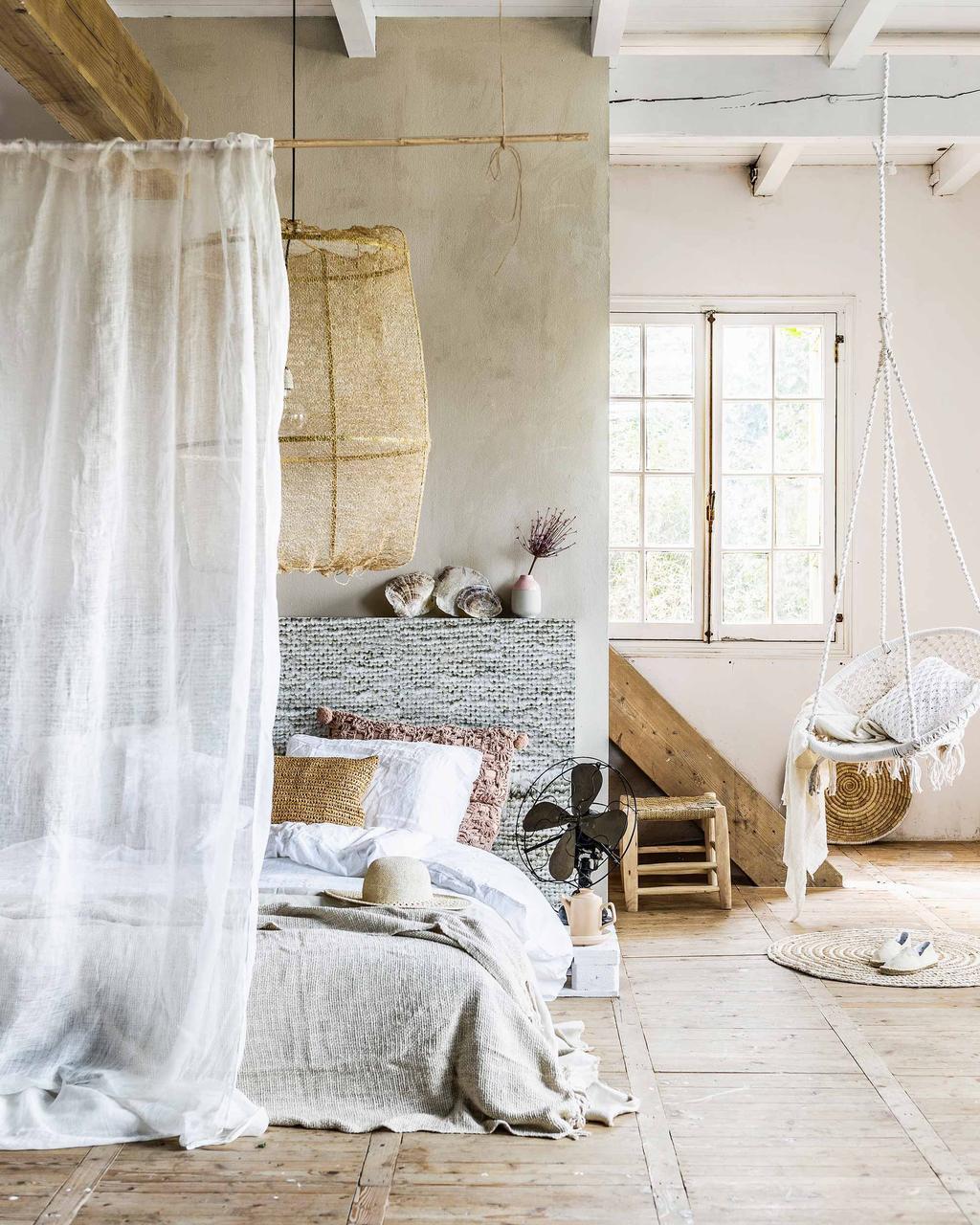 naturel slaapkamer hangstoel