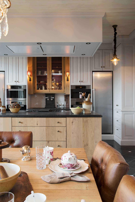 landelijke keuken tilly cambré hout licht klassiek