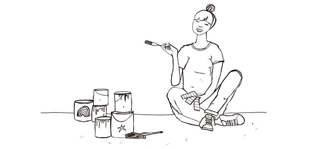 vtwonen-dossier-illustratie-verven-schilderen-verfbenodigdheden-kwasten-rollers