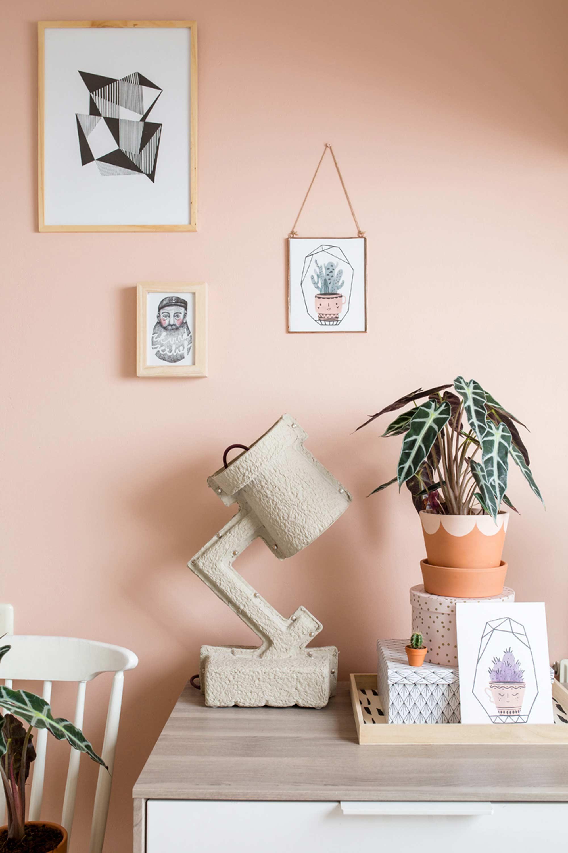 planten styling roze