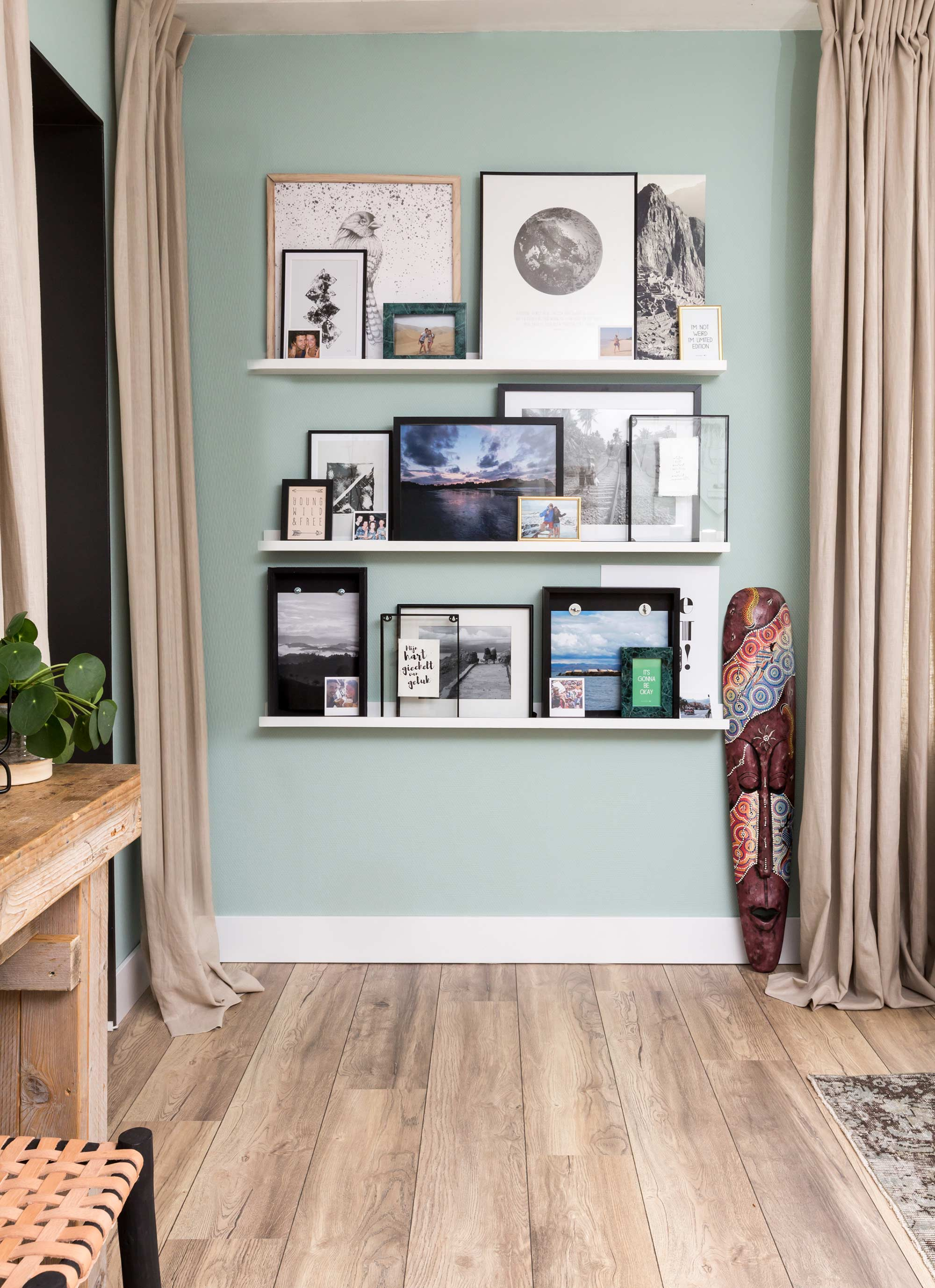 fotowand planken foto's