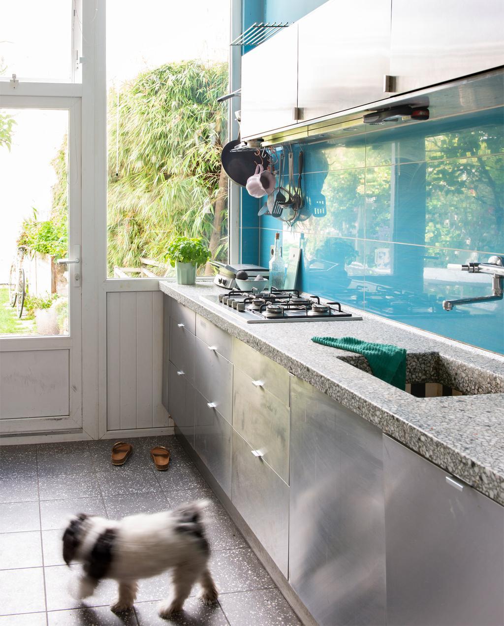 Blauwe keuken | Familiehuis