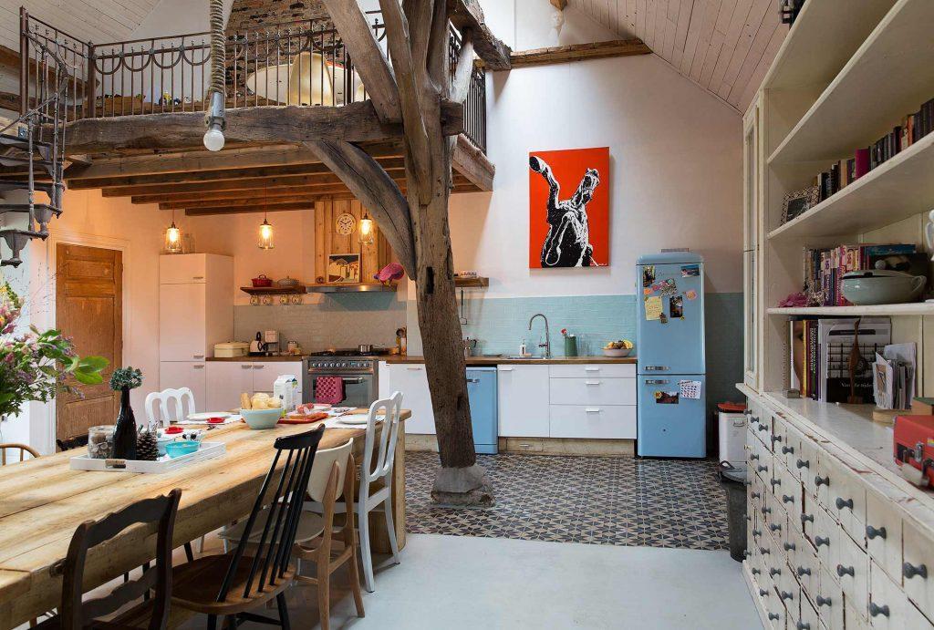 cuisine meubles bleu et blanc