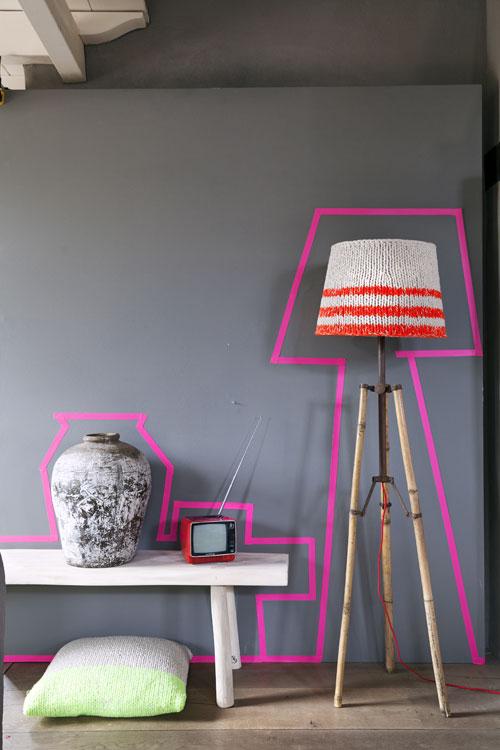 fluor tape roze lamp
