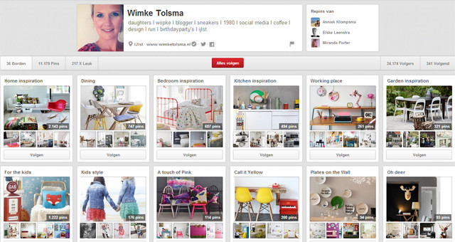Pinterestpagina Wimke Tolsma