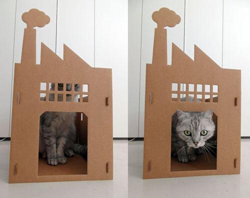 karton huis kat