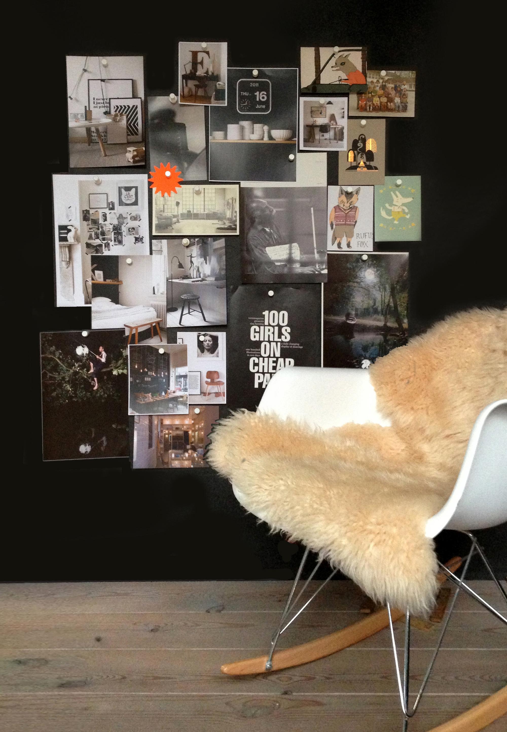 krijtbord-magneetbehang collage