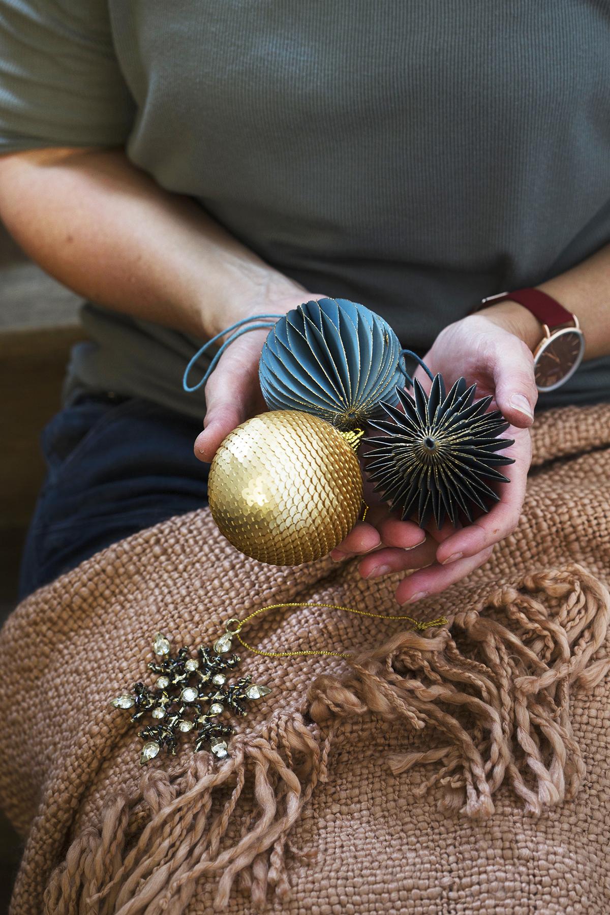 goud kerst kerstballen