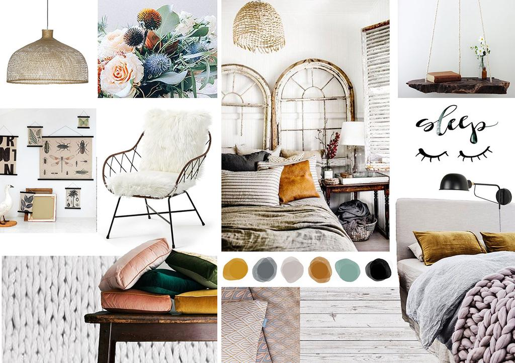Auping Slaapkamer Styling Battle Moodboard 239