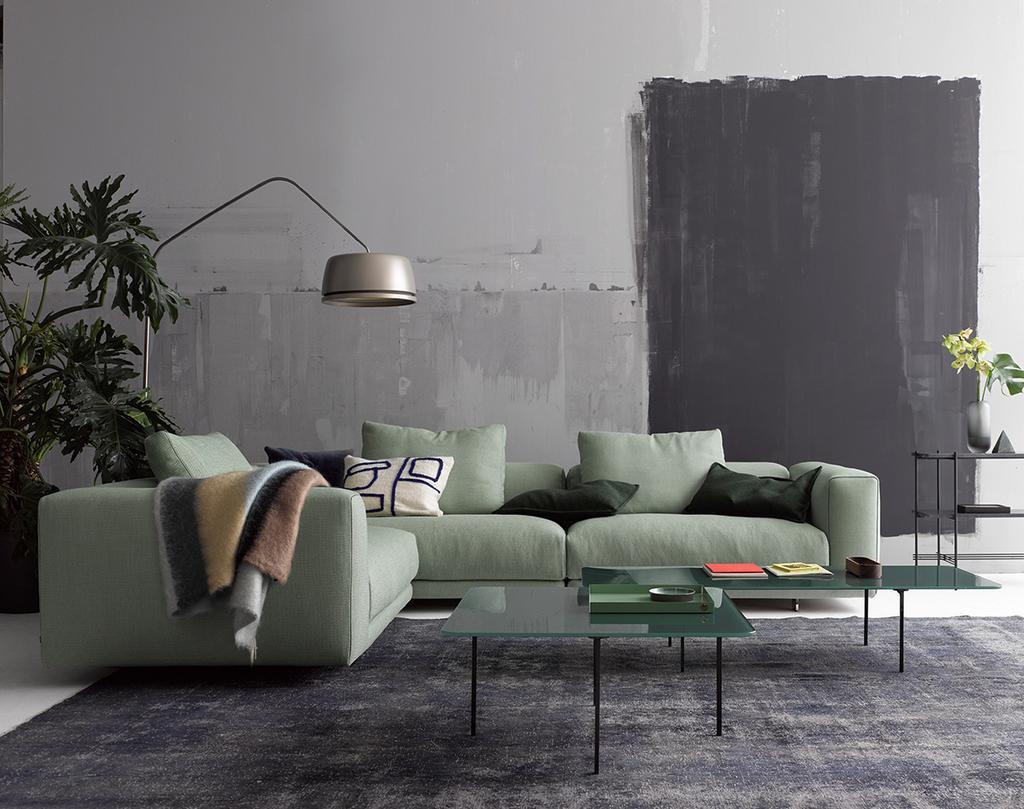 Pastelkleuren komen goed tot hun recht in een interieur als je ze combineert met ruige elementen
