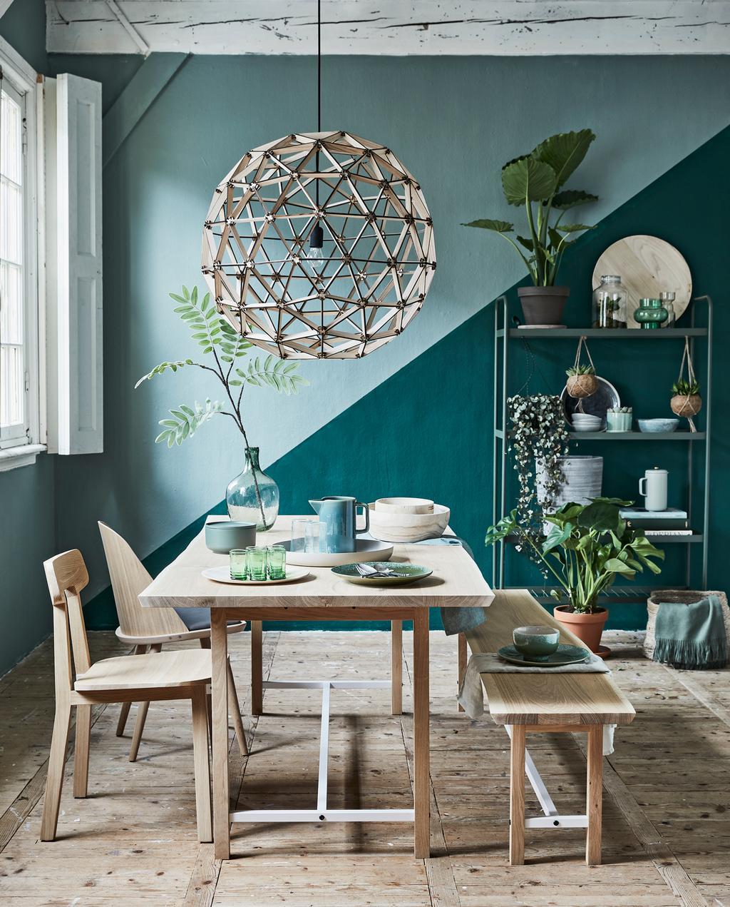 vtwonen | kleur in huis | groene eetkamer