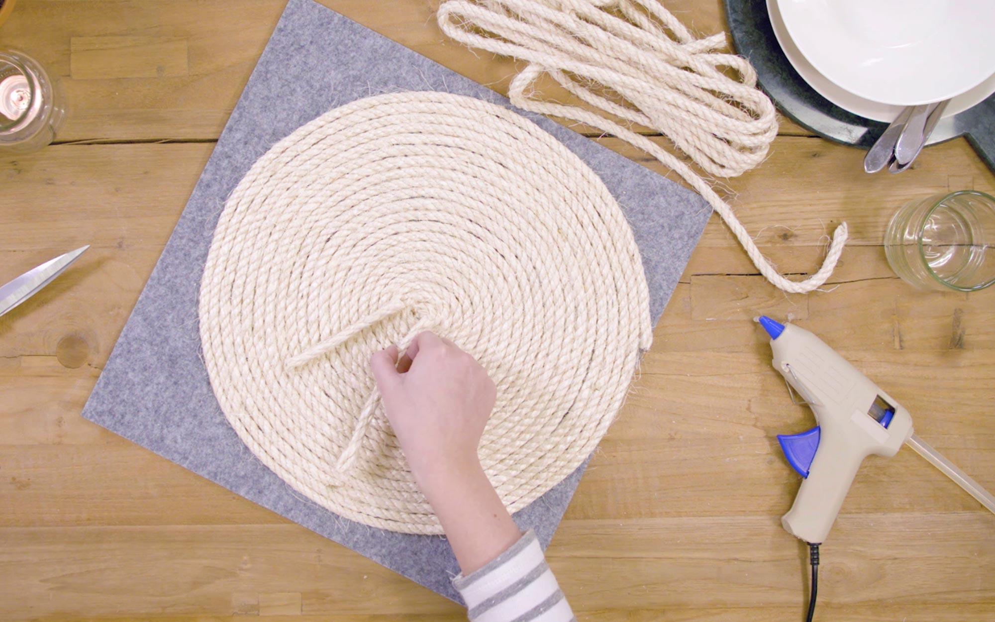 DIY placemat van touw