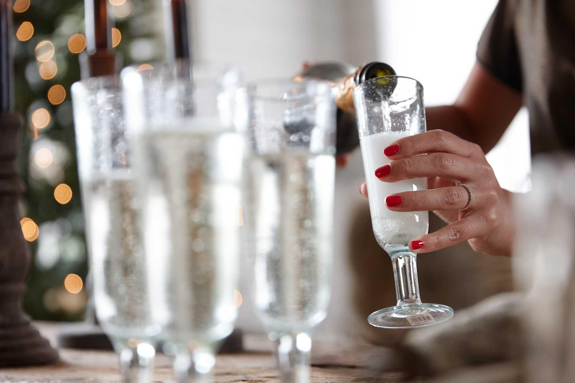 kerstspecial kerstshoot champagneglazen