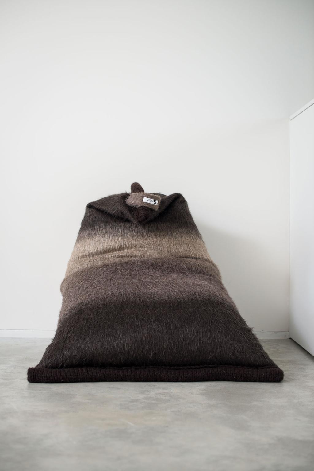 Brown beanbag