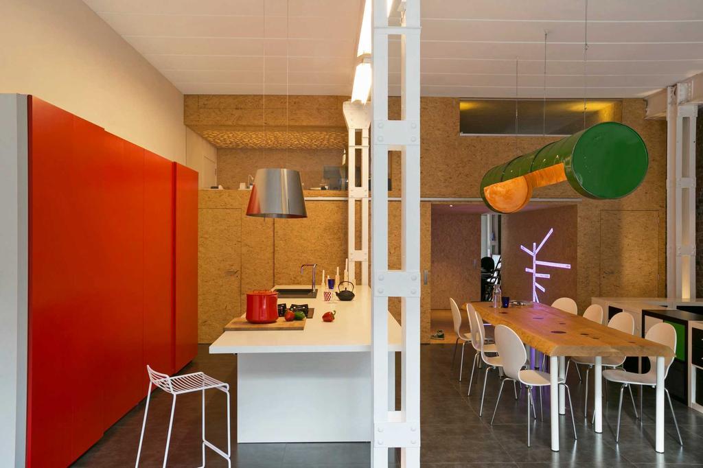 eetkamer en kantoor loft