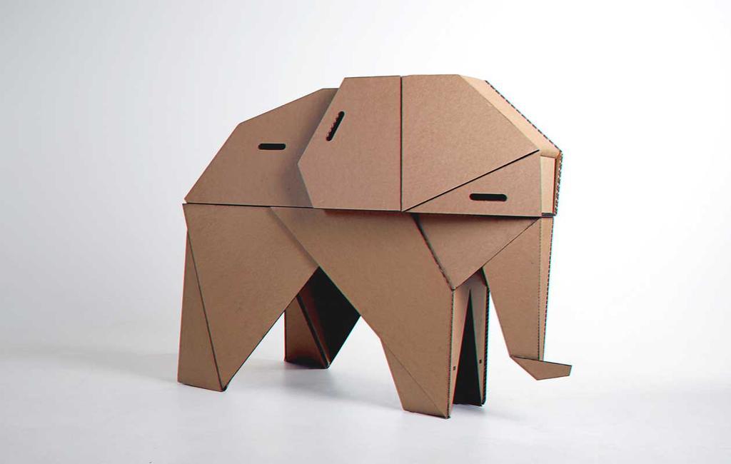 vtwonen blog studentdesign | olifant krukje van karton