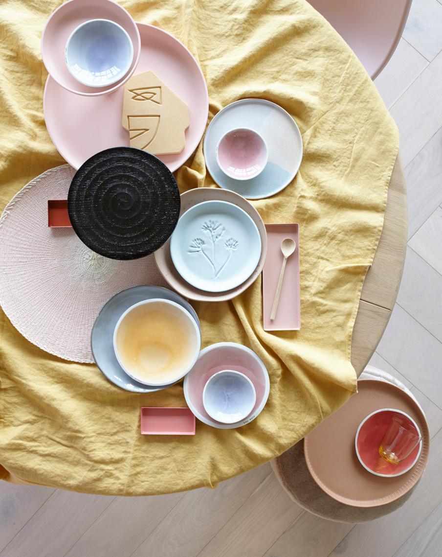 vaisselle tons pastel