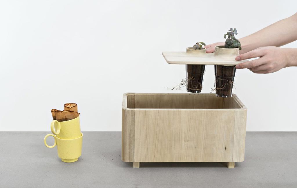 vtwonen blog StudentDesign | design voor buiten | bloembak voor koffiedrap