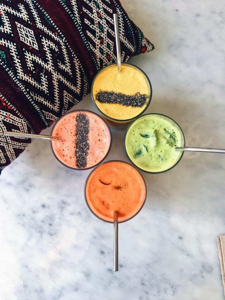kleurrijke sapjes bij chyl