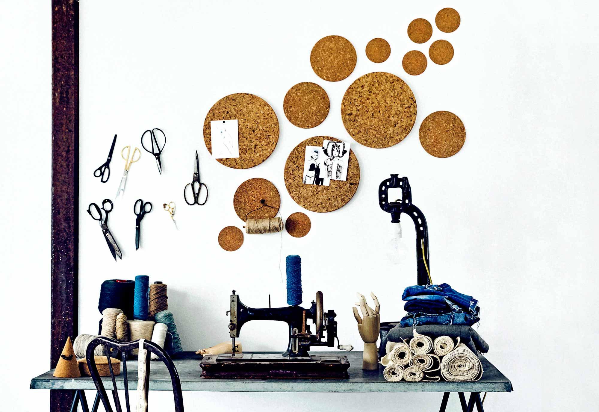 Creatief met kurk: wanddecoratie