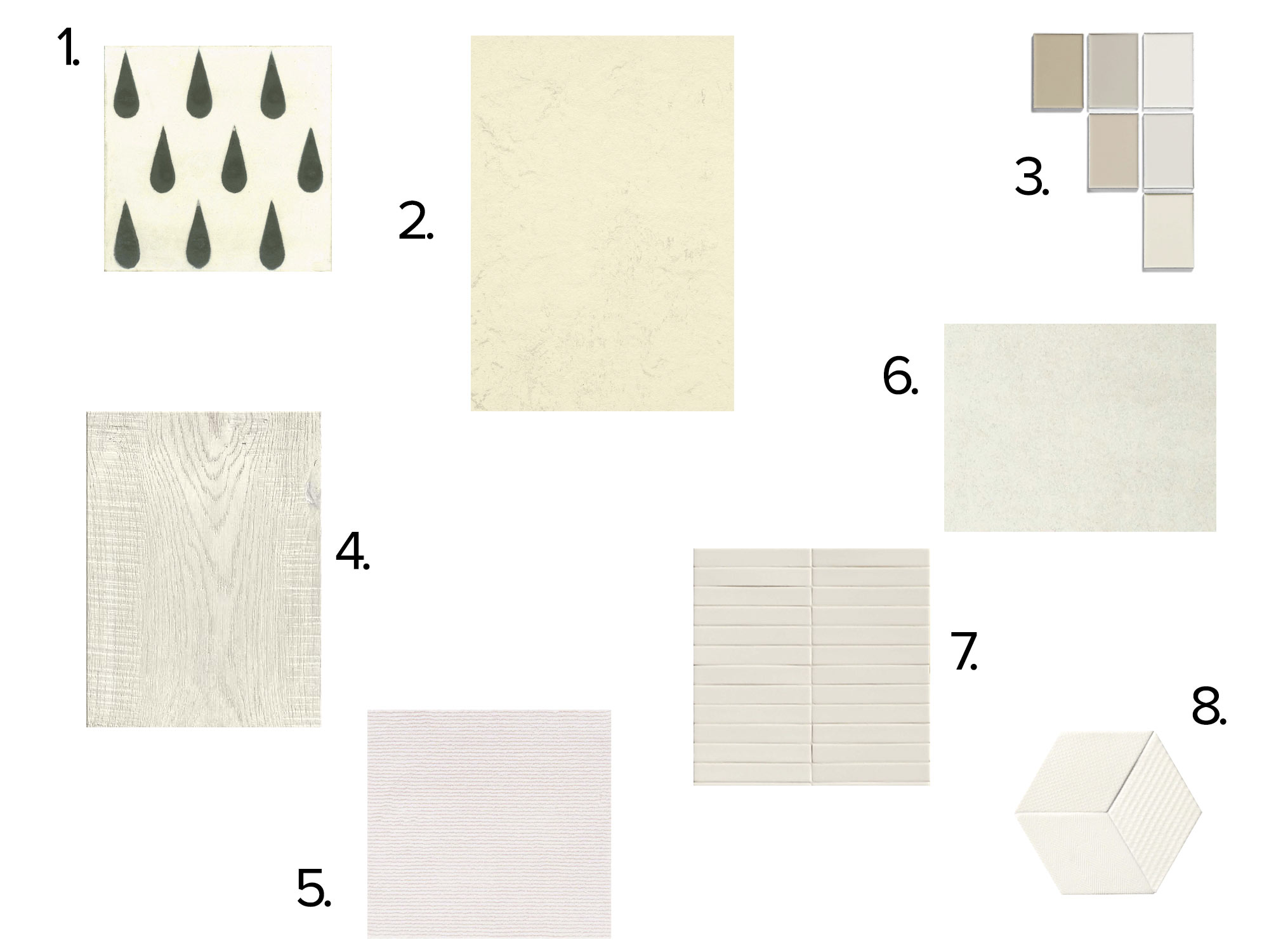 collage witte vloeren
